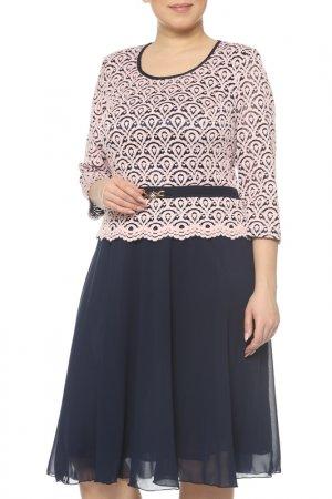 Платье CREDO. Цвет: синий, розовый