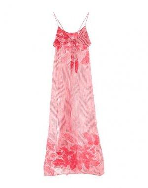 Длинное платье AGOGOA. Цвет: красный