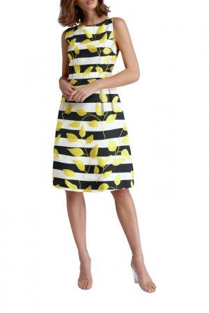 Платье Apart. Цвет: черный, кремовый, желтый