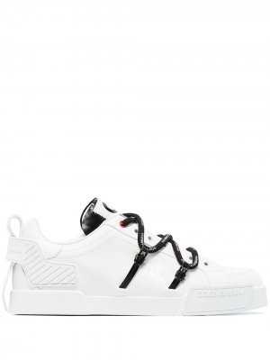 Кроссовки Portofino Dolce & Gabbana. Цвет: белый