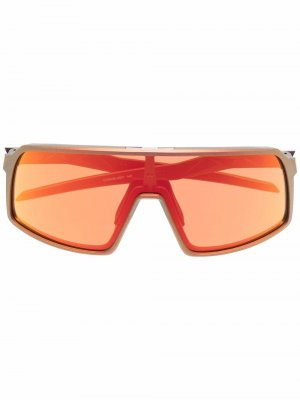 Солнцезащитные очки-маска Sutro Oakley. Цвет: золотистый