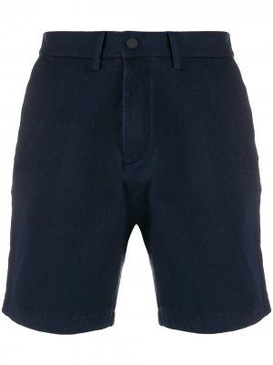 Однотонные шорты Tommy Hilfiger. Цвет: синий