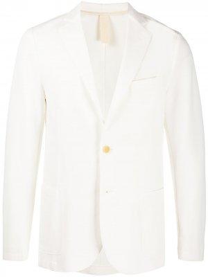 Однобортный пиджак Eleventy. Цвет: белый