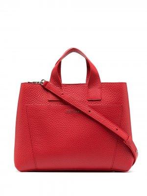Большая сумка-тоут Orciani. Цвет: красный