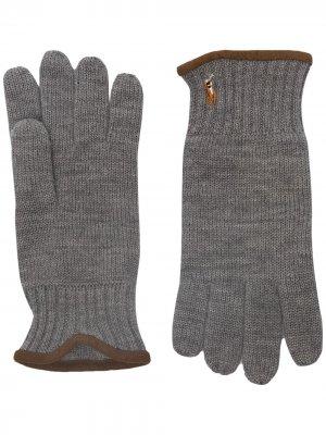 Трикотажные перчатки Polo Ralph Lauren. Цвет: серый