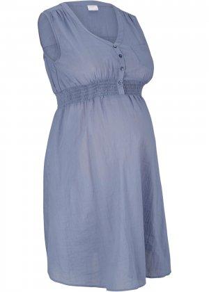 Туника для беременных bonprix. Цвет: синий
