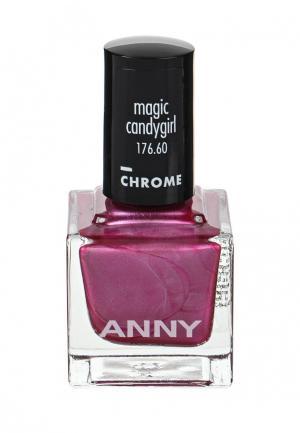 Лак для ногтей Anny тон 176.60 малина с перламутром. Цвет: фиолетовый