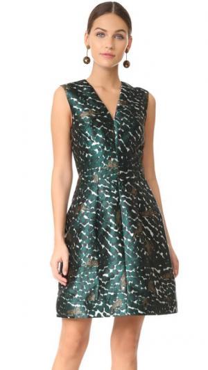 Платье-трапеция Yigal Azrouel. Цвет: голубой