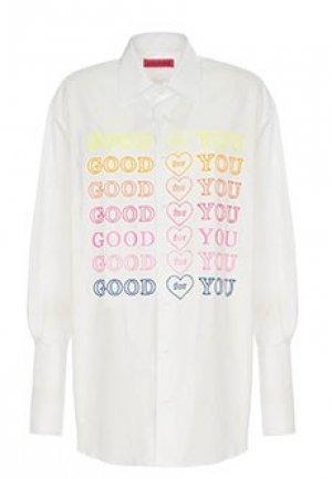 Рубашка IRENEISGOOD. Цвет: белый