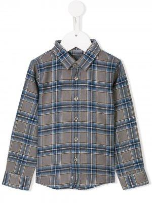 Рубашка в клетку Knot. Цвет: серый