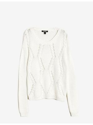 Пуловер Jennyfer. Цвет: кремовый