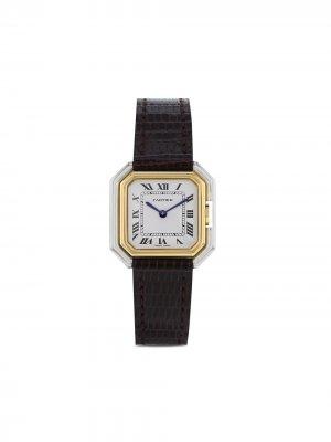 Наручные часы Ceinture pre-owned 25 мм 1970-го года Cartier. Цвет: белый