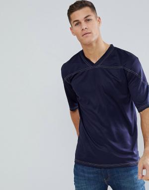 Свободная футболка -Темно-синий Bellfield