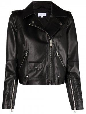 Байкерская куртка с вышитым логотипом Patrizia Pepe. Цвет: черный