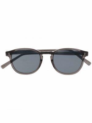 Солнцезащитные очки в круглой оправе Eight & Bob. Цвет: серый