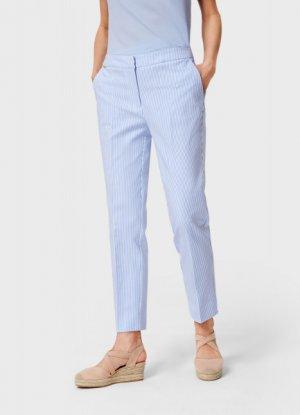 Укороченные брюки из хлопка O`Stin. Цвет: голубой