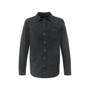 Хлопковая рубашка Black Label Harley-Davidson. Цвет: серый