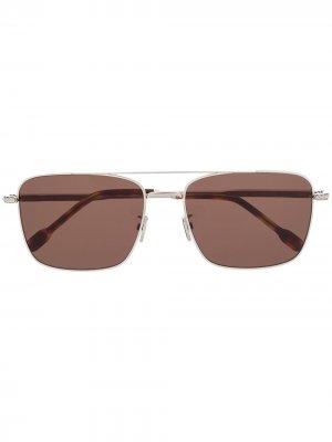Солнцезащитные очки в квадратной оправе Fred. Цвет: золотистый