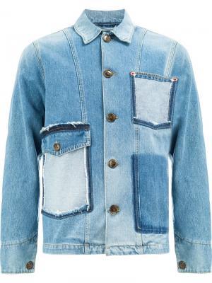 Джинсовая куртка с карманами необработанными краями Ports 1961. Цвет: синий