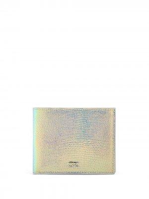 Бумажник с переливчатым эффектом Giuseppe Zanotti. Цвет: серебристый