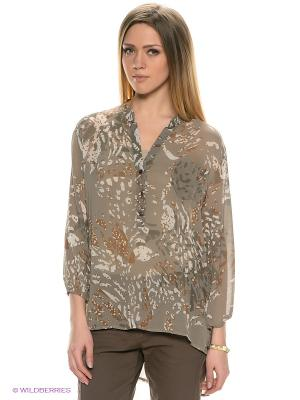 Блузка E.A.R.C.. Цвет: серый, коричневый