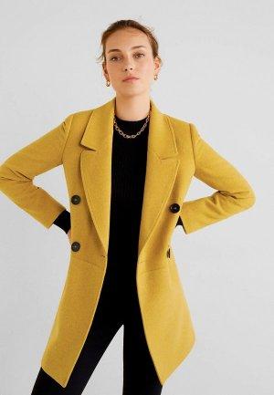 Пальто Mango - ROCK-S. Цвет: желтый