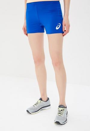 Шорты спортивные ASICS WOMAN RUSSIA SHORT. Цвет: синий