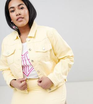 Джинсовая куртка Urban Bliss Plus. Цвет: желтый
