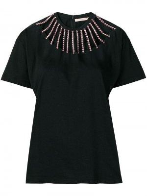 Декорированная футболка Christopher Kane. Цвет: черный