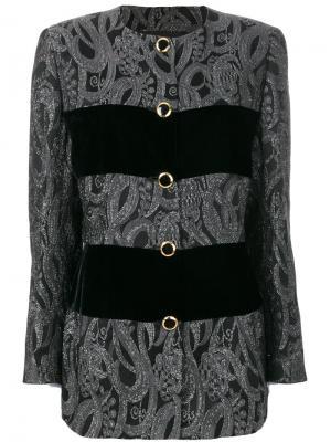 Пиджак со вставками Emanuel Ungaro Vintage. Цвет: черный