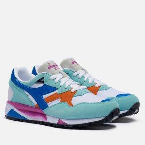 Мужские кроссовки N.9002 Diadora. Цвет: голубой