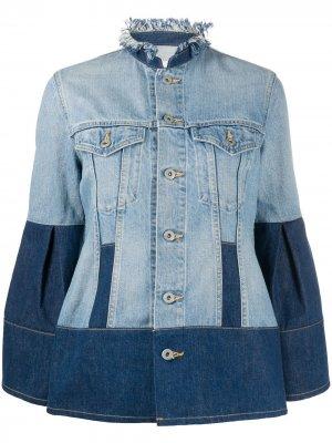 Двухцветная джинсовая куртка Junya Watanabe. Цвет: синий