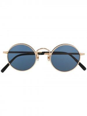 Солнцезащитные очки в круглой оправе с логотипом Matsuda. Цвет: золотистый