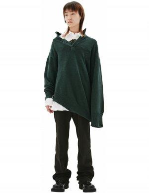 Асимметричный свитер с пуговицами Balenciaga