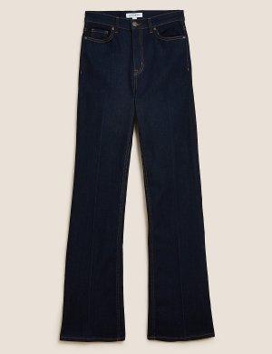 Расклешенные джинсы с высокой талией Autograph. Цвет: темный индиго