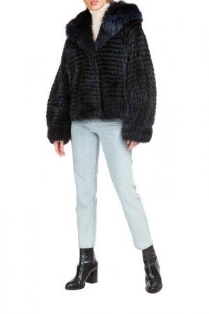 Short fur coat Manakas. Цвет: navy