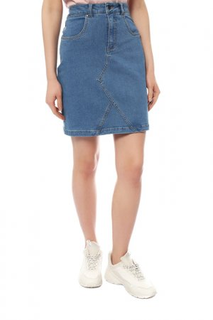 Юбка джинсовая Numph. Цвет: голубой