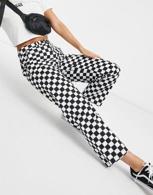 Черно-белые чиносы с шахматным узором Authentic-Синий Vans