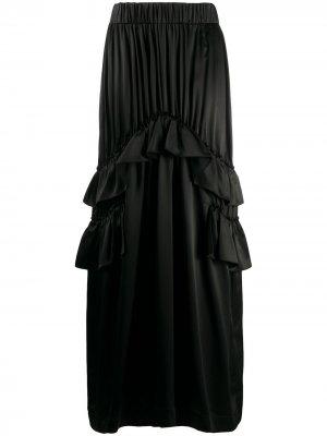 Юбка макси с оборками Simone Rocha. Цвет: черный