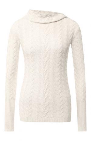 Пуловер из смеси кашемира и шелка Loro Piana. Цвет: кремовый