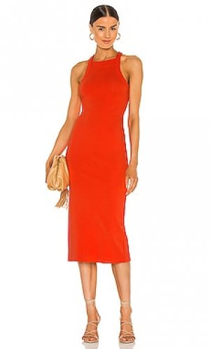 Платье миди hollie NBD. Цвет: красный