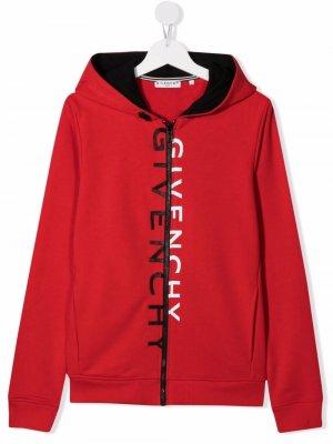 Худи с логотипом Givenchy Kids. Цвет: красный