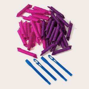 DIY Бигуди Для Волос 44шт SHEIN. Цвет: многоцветный
