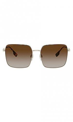 Солнцезащитные очки b. stripe jude Burberry. Цвет: коричневый