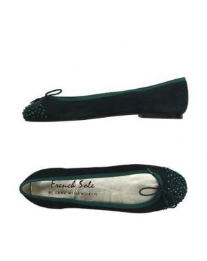 Балетки FRENCH SOLE. Цвет: темно-зеленый