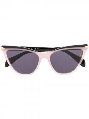 Солнцезащитные очки в оправе кошачий глаз RAG & BONE EYEWEAR. Цвет: розовый
