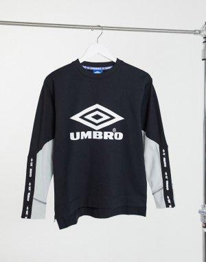 Черный свитшот Lina Umbro
