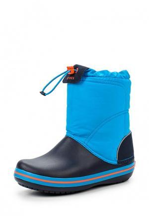 Сапоги Crocs Crocband Lodge Point Boot Kids. Цвет: синий