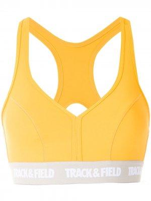 Топ Power с логотипом Track & Field. Цвет: желтый