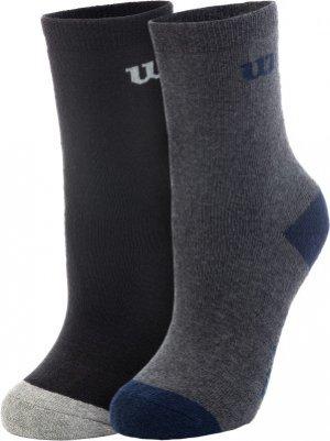 Носки для мальчиков , 2 пары, размер 31-33 Wilson. Цвет: черный